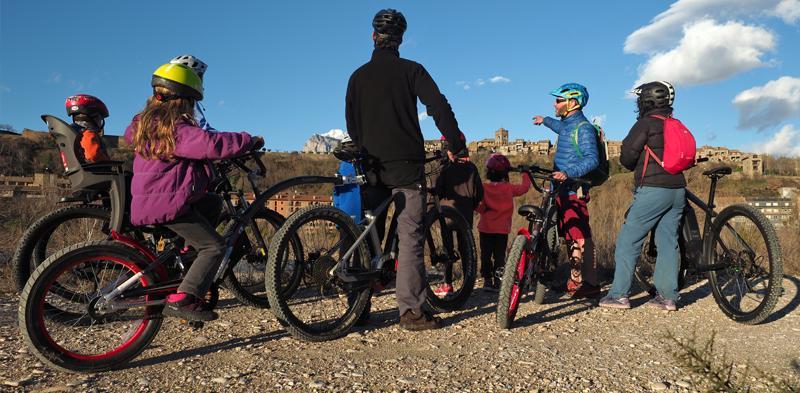 rutas familiares en bici ainsa